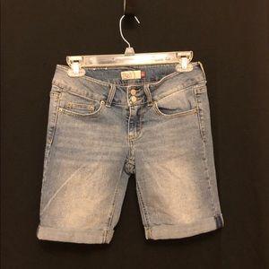 Long jean shorts